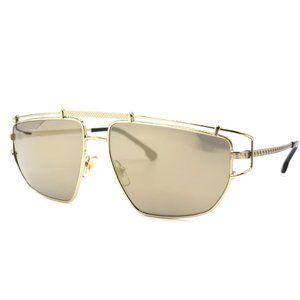 Versace VE2202 Pale Gold Brown Mirror Men Sunglass